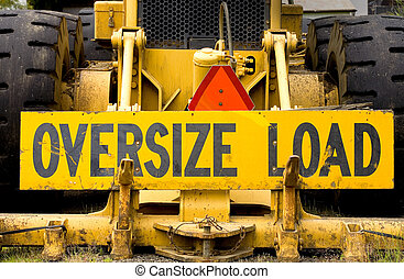 """Photo of a sign for an """"OVERSIZE LOAD."""""""