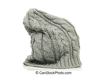 Oversized beanie in grey color