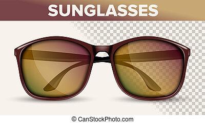 Oversized Wayfarer Sunglasses, Trendy 3D Shades. Folded ...