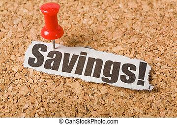 overskrift, besparelserne