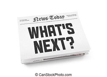 overskrift, hvad er, næste