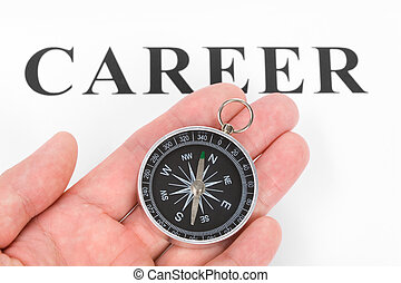 overskrift, karriere, kompas