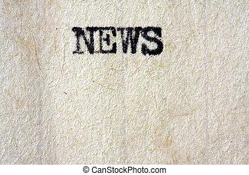 overskrift, nyhed