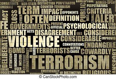 overskrift, nyhed, terrorisme