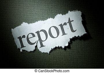 overskrift, rapport