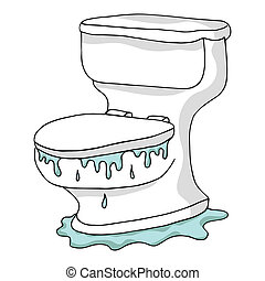 overstromen, toilet