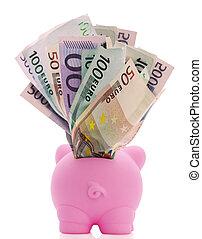 Overstuffed Piggy Bank