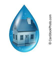 oversvømme, forsikring