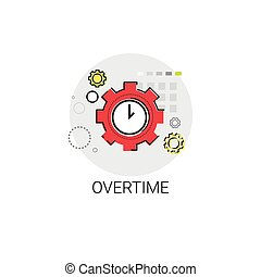 Overtime Extra Hours Work Icon