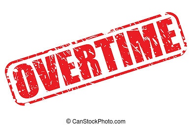 Overtime red stamp text
