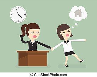Overtime - Salary man working overtime, Overload