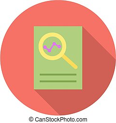 Overview, analysis, review icon vector image. Can also be ...