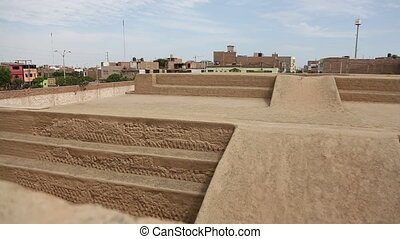 Overview if the Huaca Esmeralda in Trujillo, Peru - HD-Video...