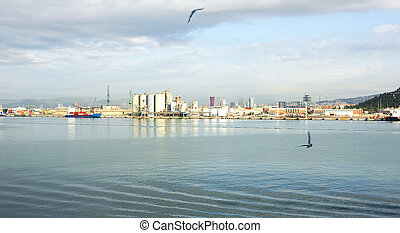 industrial area - Overview of an industrial area port of...