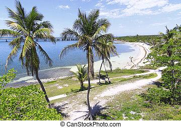 Bahia Honda - Overview of Bahia Honda Key In the Florida...