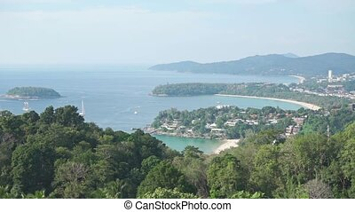 Overview of beach area on Phuket, Thailand clip