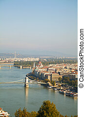 Overview of Budapest, Hungary