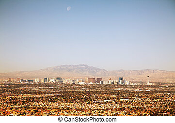 Overview of downtown Las Vegas in the morning - Overview of...