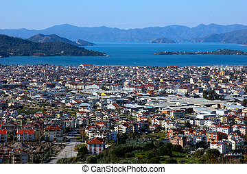 Overview of Fethiye, Turkey