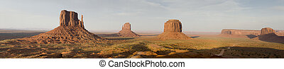 overview of Monument Valley in Utah in the United States of...