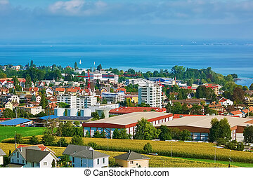 Overview of Rorschach on the South Side of Lake Constance...