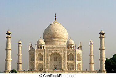 Overview of the Taj Mahal - Overview of the Taj Mahal, Agra,...