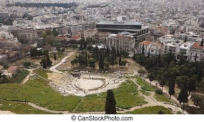 Theatre Dionysus Eleuthereus Athens - overview of the...