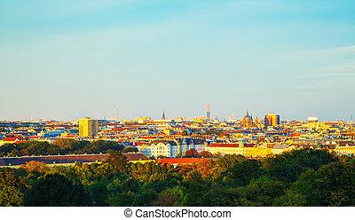 Overview of Vienna, Austria