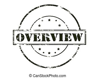 Overview - Rubber stamp with word overview inside, vector...