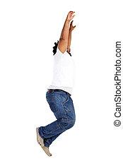 african american man jump