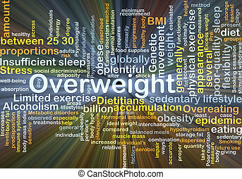 Overweight background concept glowing - Background concept ...