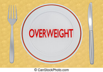 OVERWEIGHT - health concept - 3D illustration of OVERWEIGHT ...
