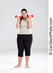 overweight woman exercise