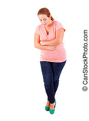 Overweighted woman - Happy overweighted woman posing...