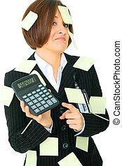 Overworked Businesswoman Stressed