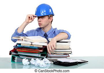 Overworked engineer