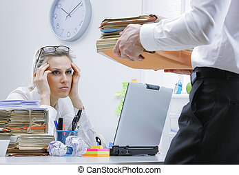 overworked, executiva