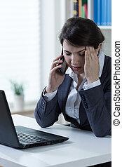 Overworked worker of corporation