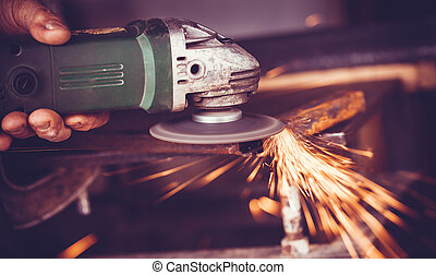 master of welding seams angle grinder - overwrites the...