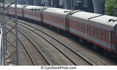 overzien, trein, voorbijgaand, tr