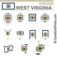 ovest, bandiera, virginia, collezione