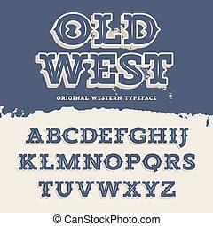ovest, font, vecchio