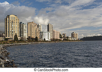 ovest, inglese, vancouver, baia