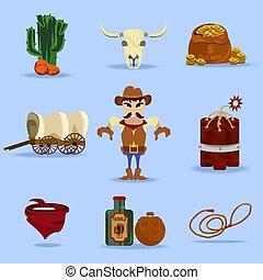 ovest selvaggio, oggetti, cowboy