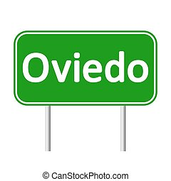 Oviedo road sign. - Oviedo road sign isolated on white...