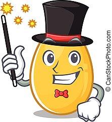 ovo dourado, mágico, quadro, desempenho