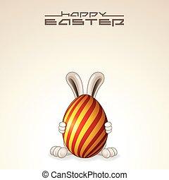 ovo páscoa, bunny., vetorial, desenho