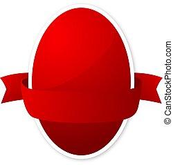 ovo páscoa, fita vermelha