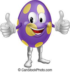 ovo páscoa, ilustração, homem
