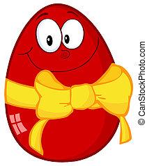 ovo páscoa, vermelho